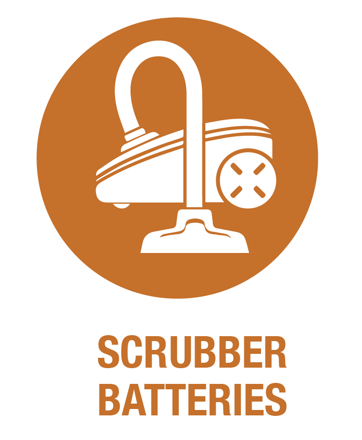 Scrubber batteries at Scott Electric