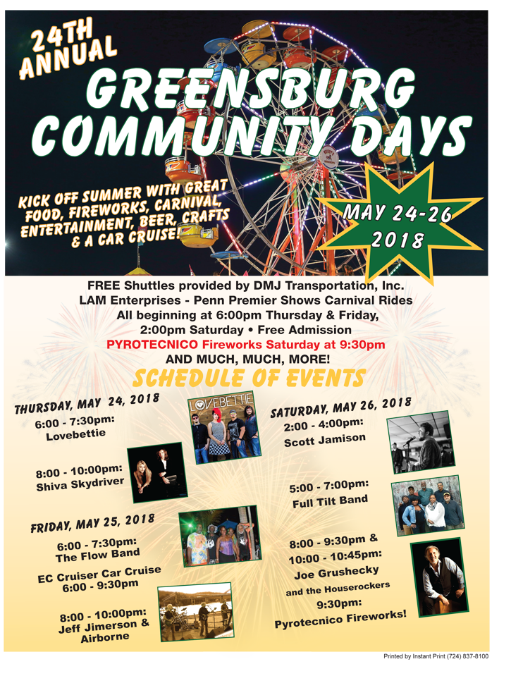 Instant Print Sample Community Days Flyer Front