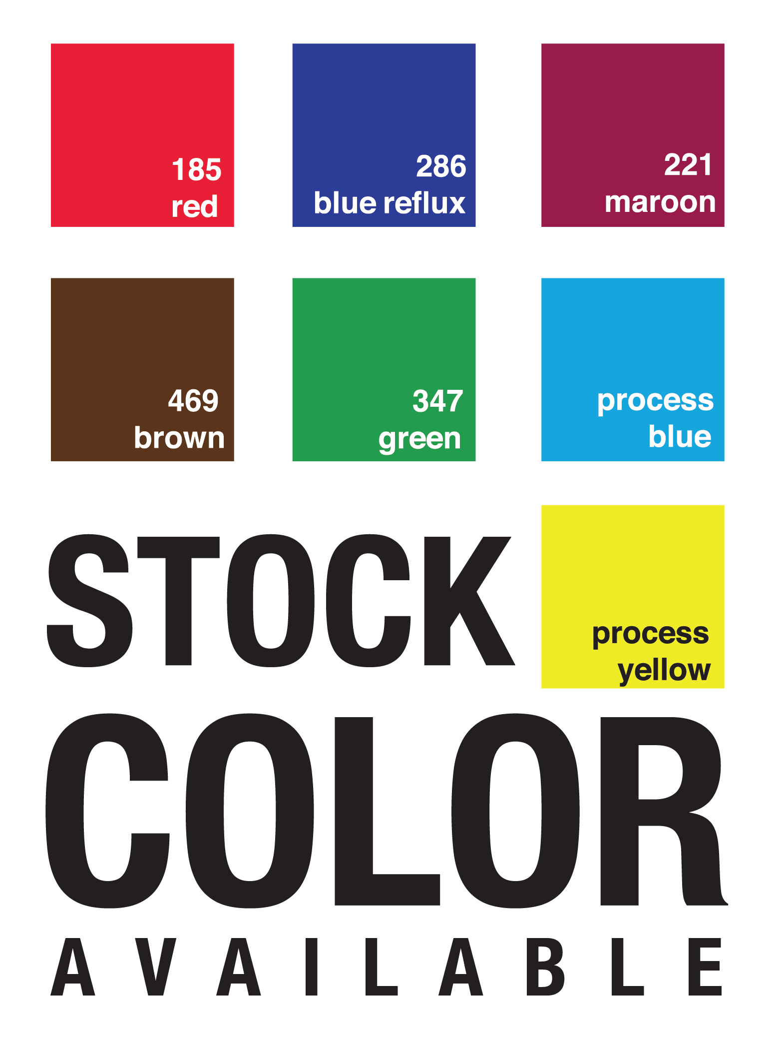 Instant Print Stock Colors