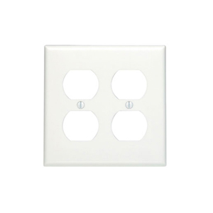 Cooper PJ82V Ivory Almond 2 Gang Duplex Receptacle Wall Plate